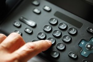 voip phone finger Pushing Number