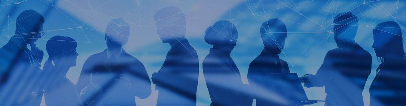 Silhouette business people meeting