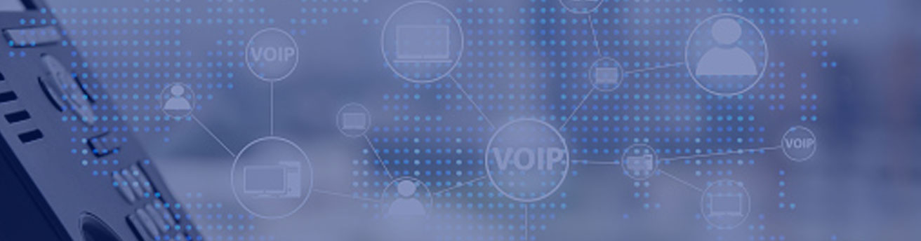 VoIP background with phone